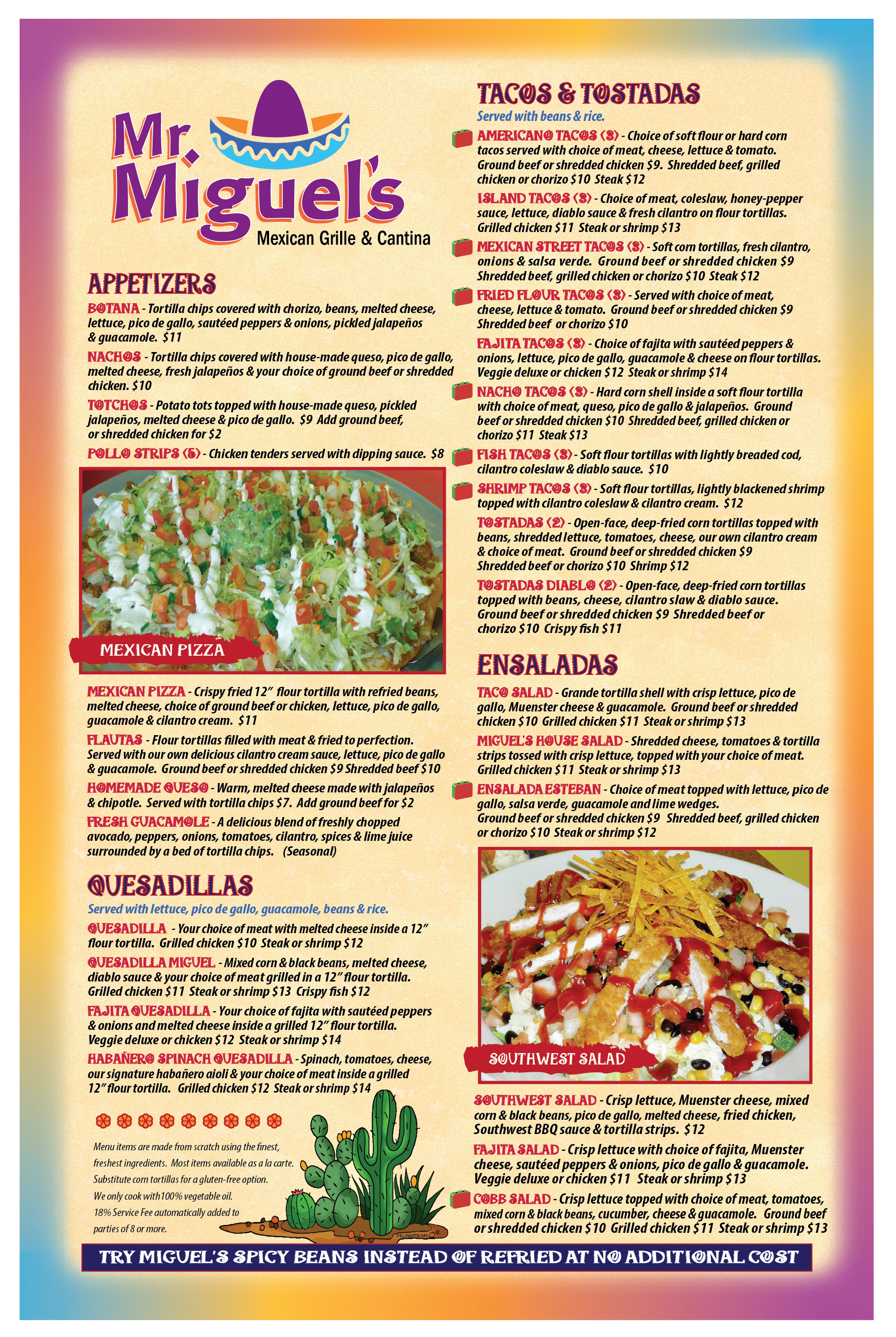 Aug 2017 PROOF Miguels Newest Menu FRONT